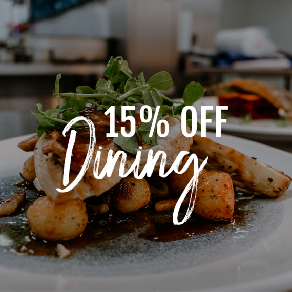 15% off dining