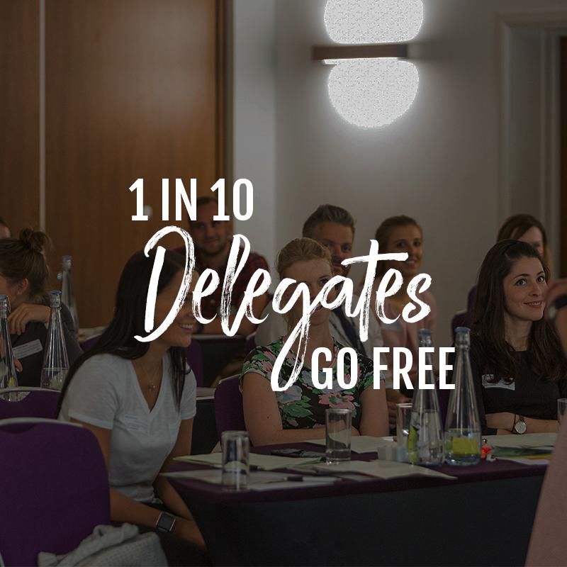 1 in 10 delegates go free