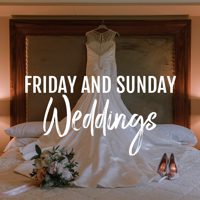 friday and sunday weddings