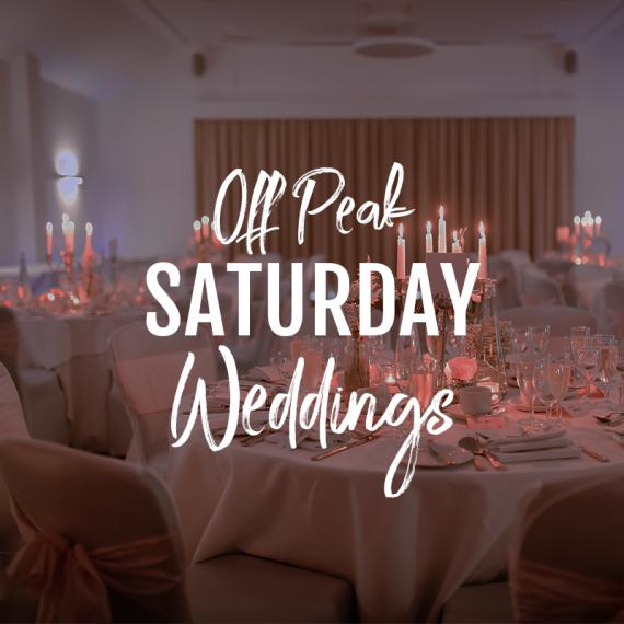 off peak Saturday weddings